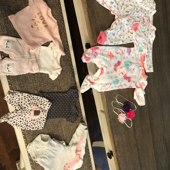 2d80649a6 Carter's One Pieces   Lot Of Baby Girl Size Preemie Clothing   Poshmark